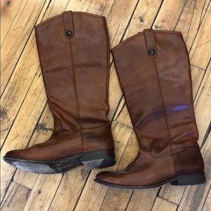 Frye knee high brown boots